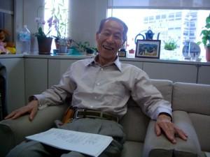 佐々木秀幸氏(08年5月、東京都庁内・東京マラソン事務局にて撮影)